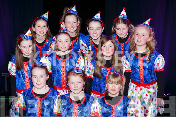 Performing in the Currow NS parents association musical in Killarney Racecourse on Sunday front row l-r: Erin Mitchell, amy Crowley, Maria Jones. Middle row; Ava Brosnan, Chloe Collins, Muireann Donnelly, Aibhlinn Matthews. Back row: Emily Philpott, Saoirse Daly, Katelyn Brosnan, Ellie Mitchell