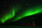 THE ITHICCA AND THE NORTHERN LIGHTS,  'Aurora borealis' CHURCHILL, MANITOBA, CANADA