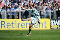 during the Aviva Premiership match between Bath Rugby and Leicester Tigers at The Recreation Ground on Saturday 20th April 2013 (Photo by Rob Munro)