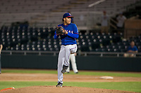 AZL Rangers relief pitcher Israel Cruz (71) delivers a pitch to the plate against the AZL Giants on September 4, 2017 at Scottsdale Stadium in Scottsdale, Arizona. AZL Giants defeated the AZL Rangers 6-5 to advance to the Arizona League Championship Series. (Zachary Lucy/Four Seam Images)