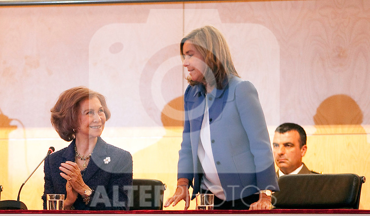 Queen Sofia of Spain during the inauguration of the 1st International Simposium about reseach in Alzheimer in Salamanca´s University. May 21, 2013. (Victor Blanco/Alterphotos)