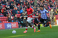 Adedeji Oshilaja of Charlton Athletic and Jacob Murphy of Sheffield Wednesday during Charlton Athletic vs Sheffield Wednesday, Sky Bet EFL Championship Football at The Valley on 30th November 2019