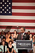 August 13, 2012. Durham, NC.. Mayor Bill Bell welcomed the crowd.. Vice President Joe Biden spoke to a packed house at the Durham Armory, clearly defining the differences between his and the President's views from those of their challengers Mitt Romney and Paul Ryan, who were in the state over the weekend.