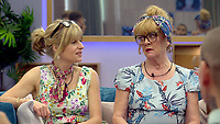 Rachel Johnson and Amanda Barrie.<br /> Celebrity Big Brother 2018 - Day 8<br /> *Editorial Use Only*<br /> CAP/KFS<br /> Image supplied by Capital Pictures