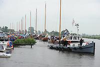 ZEILEN: DE VEENHOOP, Wide Ie, Grytmansrak, 21-07-2014, 2e wedstrijd SKS skûtsjesilen, walstart, ©foto Martin de Jong