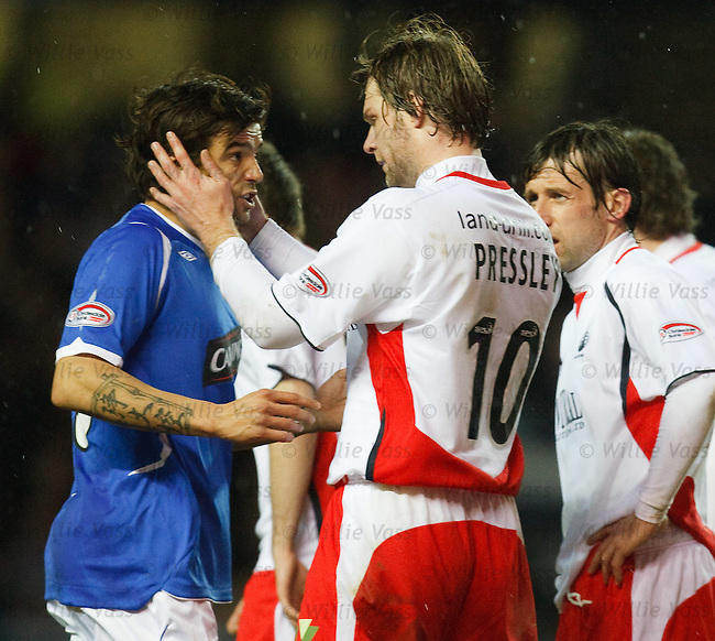 Steven Pressley puts Nacho Novo in a Vulcan death grip