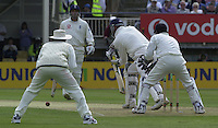 31/05/2002.Sport -Cricket - 2nd NPower Test -Second Day.England vs Sri Lanka.Marcus Trescothick batting at the city end [Mandatory Credit Peter Spurrier:Intersport Images]