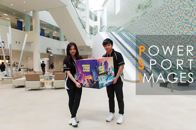 Lucky draw to win free tickets to the Hong Kong Sevens in HBSC Tseung Kwan O building on 05 April 2016, in Hong Kong, China. Photo by Lucas Schifres / Power Sport Images