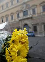 20151114 ROMA-CRONACA: L'OMAGGIO ALLE VITTIME DEGLI ATTENTATI DI PARIGI