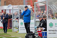 Grimsby manager Russell Slade during the Sky Bet League 2 match between Cheltenham Town and Grimsby Town at the The LCI Rail Stadium,  Cheltenham, England on 17 April 2017. Photo by PRiME Media Images / Mark Hawkins.