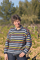 Agnes Henry-Hocquard, owner and responsible for the wines Domaine de la Tour du Bon Le Castellet Bandol Var Cote d'Azur France