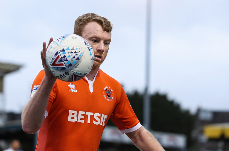 Blackpool's Chris Taylor <br /> <br /> Photographer Andrew Kearns/CameraSport<br /> <br /> The EFL Sky Bet League Two - Bristol Rovers v Blackpool - Saturday 2nd March 2019 - Memorial Stadium - Bristol<br /> <br /> World Copyright © 2019 CameraSport. All rights reserved. 43 Linden Ave. Countesthorpe. Leicester. England. LE8 5PG - Tel: +44 (0) 116 277 4147 - admin@camerasport.com - www.camerasport.com