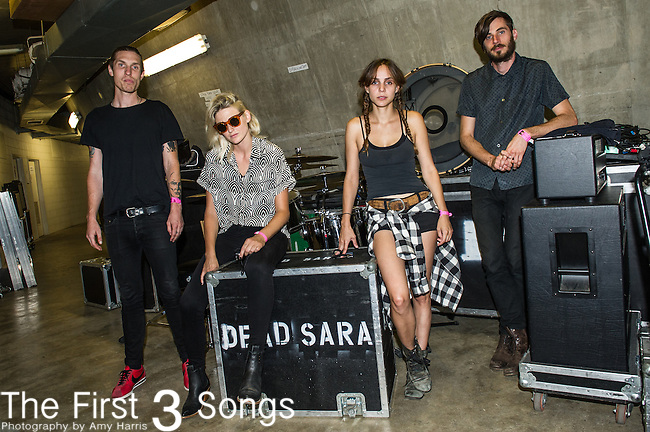 Emily Armstrong, Sean Friday, Siouxsie Medley, and Chris Nullof Dead Sara perform at the 2014 Bunbury Music Festival in Cincinnati, Ohio