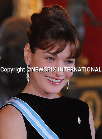 """CARLA BRUNI.attends a Gala hosted by King Juan Carlos, Queen Sofia, Prince Felipe and Princess Letizia, Zarzuela Palace, Madrid_27/4/2009.Mandatory Credit Photo: ©NEWSPIX INTERNATIONAL..**ALL FEES PAYABLE TO: """"NEWSPIX INTERNATIONAL""""**..IMMEDIATE CONFIRMATION OF USAGE REQUIRED:.Newspix International, 31 Chinnery Hill, Bishop's Stortford, ENGLAND CM23 3PS.Tel:+441279 324672  ; Fax: +441279656877.Mobile:  07775681153.e-mail: info@newspixinternational.co.uk"""