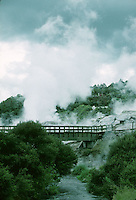 Geothermal springs in Rotarua, New Zealand in 1995