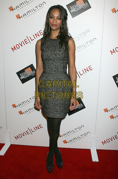 DIANE KRUGER.2009 Hamilton Behind The Camera Awards Presented By Movieline.com at The Highlands, Hollywood, California, USA..November 8th, 2009.full length sleeveless wool tweed grey gray dress black tights shoes platform  purple .CAP/ADM/MJ.©Michael Jade/AdMedia/Capital Pictures.