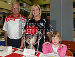 Michael, Amanda and Alicia Lane from Hunterstown Rovers GFC pictured at the Enterprise day in Ardee parish centre. Photo:Colin Bell/pressphotos.ie