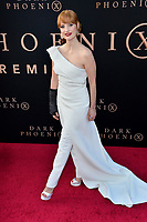 "LOS ANGELES, USA. June 05, 2019: Jessica Chastain at the premiere for ""X-Men: Dark Phoenix"" at Paramount Theatre.<br /> Picture: Paul Smith/Featureflash"