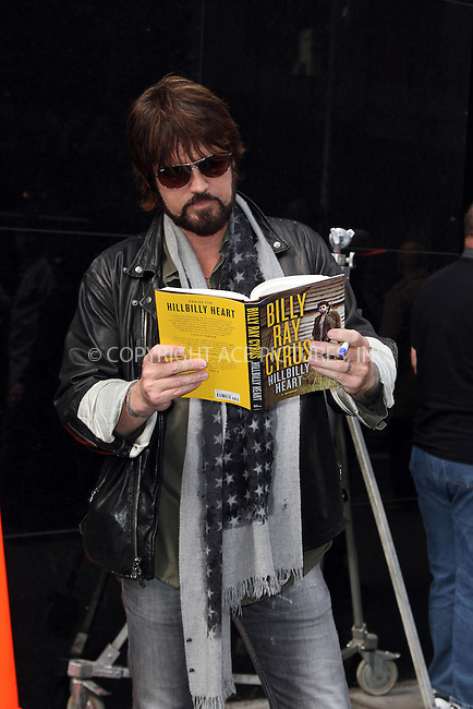 WWW.ACEPIXS.COM....April 18 2013, New York City....Billy Ray Cyrus promotes his book 'Hillbilly Heart' on 'Good Morning america' on April 18 2013 in New York City......By Line: Zelig Shaul/ACE Pictures......ACE Pictures, Inc...tel: 646 769 0430..Email: info@acepixs.com..www.acepixs.com