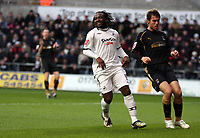 Pictured: Jason Scotland of Swansea (L)<br /> Re: Coca Cola Championship, Swansea City FC v Coventry City at the Liberty Stadium. Swansea, south Wales, Friday 26 December 2008.<br /> Picture by D Legakis Photography / Athena Picture Agency, Swansea 07815441513