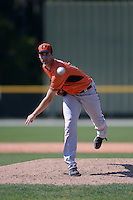 Baltimore Orioles pitcher Augey Bill (68) during a minor league spring training game against the Boston Red Sox on March 18, 2015 at the Buck O'Neil Complex in Sarasota, Florida.  (Mike Janes/Four Seam Images)