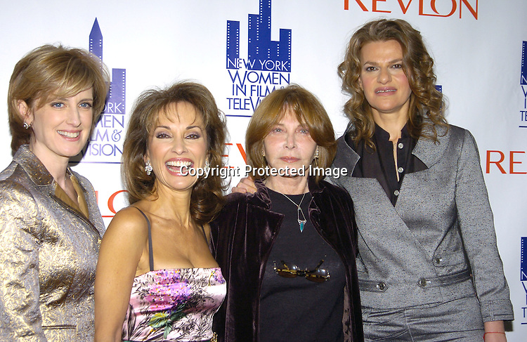 Anne Sweeney, Susan Lucci Lee Grant and Sandra Bernhardt ..at The New York Women in Film and Television 2004 Muse Awards Luncheon on Dec 16, 2004 at the New York Hilton Hotel. Lucci, Sweeney, Grant and Zea were honored. ..Photo by Robin Platzer, Twin Images