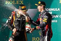 MELBOURNE, AUSTRALIA, 17 MARÇO 2013 - F1 - GP DA AUSTRALIA - O piloto filandes Kimi Raeikkoenen , da Lotus durante o GP da Austrália, em Albert Park, Melbourne, neste domingo (17). (FOTO: PIXATHLON / BRAZIL PHOTO PRESS)..