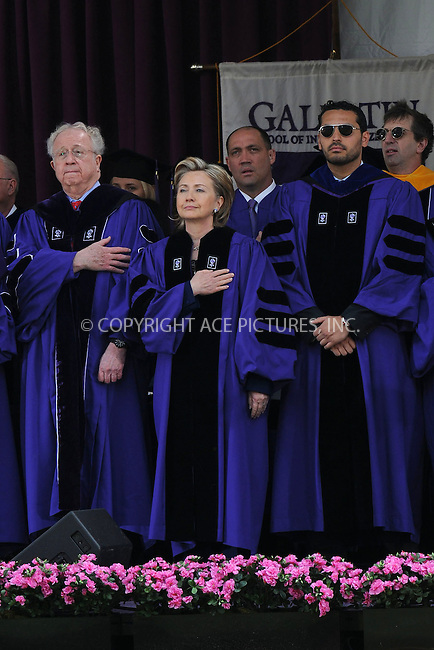 WWW.ACEPIXS.COM . . . . . ....May 13 2009, New York City....Secretary of State Hillary Clinton addresses New York University's graduating class of 2009 and received a Doctor of Laws degree at NYU's 177th Commencement ceremony at Yankee Stadium on May 13, 2009 in the Bronx, New York City.....Please byline: KRISTIN CALLAHAN - ACEPIXS.COM.. . . . . . ..Ace Pictures, Inc:  ..tel: (212) 243 8787 or (646) 769 0430..e-mail: info@acepixs.com..web: http://www.acepixs.com