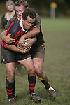 C. McRobbie wraps up V. Pihigia. Counties Manukau Premier 2 Championship game between Bombay and Papakura played at Bombay on May 13th, 2006. Papakura won 8 - 7.