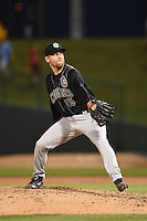 Kane County Cougars pitcher Zak Hermans (15) delivers a pitch during a game against the Peoria Chiefs on June 2, 2014 at Dozer Park in Peoria, Illinois.  Peoria defeated Kane County 5-3.  (Mike Janes/Four Seam Images)