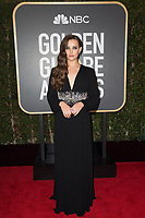 Nominated for BEST PERFORMANCE BY AN ACTRESS IN A TELEVISION SERIES &ndash; DRAMA for her role in &quot;13 Reasons Why,&quot; actress Katherine Langford arrives at the 75th Annual Golden Globes Awards at the Beverly Hilton in Beverly Hills, CA on Sunday, January 7, 2018.<br /> *Editorial Use Only*<br /> CAP/PLF/HFPA<br /> &copy;HFPA/PLF/Capital Pictures