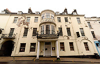 BNPS.co.uk (01202 558833)<br /> Pic :  RogerArbon/BNPS<br /> <br /> The hotel pictured before the refurbishment<br /> <br /> An historic hotel immortalised in one of Thomas Hardy's most famous novels is set to reopen five years after closing in a state of disrepair.The Kings Arms in Dorchester, Dorset, featured prominently in Hardy's 1886 novel The Mayor of Casterbridge.The Victorian author described in great detail how the former wife of flawed character Michael Henchard looked in through the building's bow-windows to find him as mayor presiding over a feast.The Grade II listed former coaching inn closed in 2015 but its owners, Stay Original Co., have been spent 18 months refurbishing the iconic building.