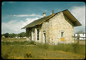 Abandoned DSP&amp;P stone depot in Gunnison.  This was razed in 1956 so as to widen Highway 50.<br /> DSP&amp;P  Gunnison, CO