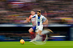 Leonado Carrilho Baptistao, Leo Baptistao, of RCD Espanyol (R) fights for the ball with Saul Niguez Esclapez of Atletico de Madrid during the La Liga 2018-19 match between Atletico de Madrid and RCD Espanyol at Wanda Metropolitano on December 22 2018 in Madrid, Spain. Photo by Diego Souto / Power Sport Images