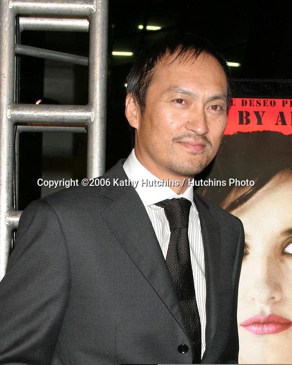 "Ken Watanabe.""Volver"" Premiere.AFI Film Festival.ArcLight Theaters.Los Angeles, CA.November 2, 2006.©2006 Kathy Hutchins / Hutchins Photo....                 ."