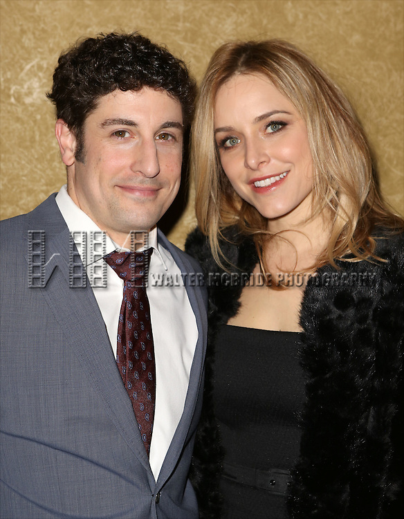 Jason Biggs and Jenny Mollen attends the Broadway Opening Night press reception for 'The Heidi Chronicles'  at The Music Box Theatre on March 19, 2015 in New York City.