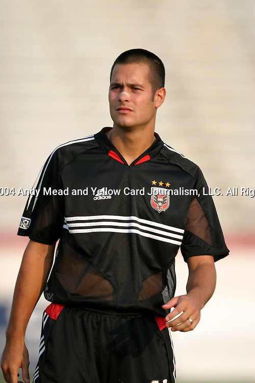 21 July 2004: Mike Petke. The Richmond Kickers of the A-League defeated DC United of Major League Soccer 2-1 at University of Richmond Stadium in Richmond, VA in a fourth round game in the 2004 Lamar Hunt U.S. Open Cup..