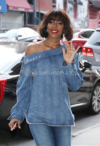 NEW YORK, NY - APRIL 12:  Kelly Rowland at CBS This Morning at to talk about her new book in New York  on April 12, 2017. Credit: RW/MediaPunch