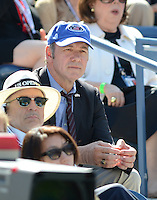 FLUSHING NY- SEPTEMBER 9: Kevin Spacey is sighted watching Novak Djokovic Vs David Ferrer in the mens semi finals on Arthur Ashe Stadium at the USTA Billie Jean King National Tennis Center on September 9, 2012 in in Flushing Queens. Credit: mpi04/MediaPunch Inc. ***NO NY NEWSPAPERS*** /NortePhoto.com<br />