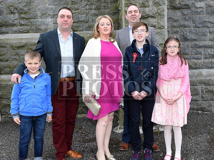 Mark Flynn who was confirmed at the Church of the Immaculate Conception Termonfeckin with his family. Photo:Colin Bell/pressphotos.ie