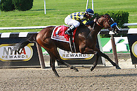 Contested & Javier Castellano win the Grade I Acorn 3-year old fillies going 1  mile at Belmont Park.  Trainer Bob Baffert  Owners Natalie Baffert.