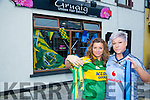 snipping rivalry at Gruaige Hair Salon Pembroke Street when it comes to the all Ireland final from Kerry supporter Brenda Roche and Dublin supporter Joanna O'Driscoll