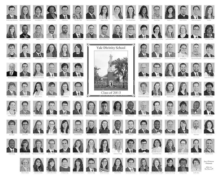 The 2013 Yale Divinity School Senior Portraits Composite Photograph