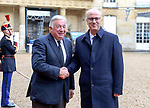 Palestinian Prime Minister, Rami Hamdallah, meets with French Senate President Gerard Larcher, in the Paris city Capital of France , on December 06, 2018. Photo by Prime Minister Office