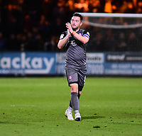 Lincoln City's Lee Frecklington applauds the fans at the final whistle<br /> <br /> Photographer Andrew Vaughan/CameraSport<br /> <br /> The EFL Sky Bet League Two - Cambridge United v Lincoln City - Saturday 29th December 2018  - Abbey Stadium - Cambridge<br /> <br /> World Copyright © 2018 CameraSport. All rights reserved. 43 Linden Ave. Countesthorpe. Leicester. England. LE8 5PG - Tel: +44 (0) 116 277 4147 - admin@camerasport.com - www.camerasport.com