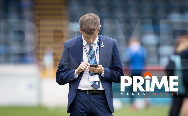 Wycombe Media Tom Jarvis during the Sky Bet League 1 match between Wycombe Wanderers and Bristol Rovers at Adams Park, High Wycombe, England on 18 August 2018. Photo by Andy Rowland.