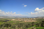 Israel, lower Galilee, a view of Beit Netofa valley and Hoshaya village from Zippori