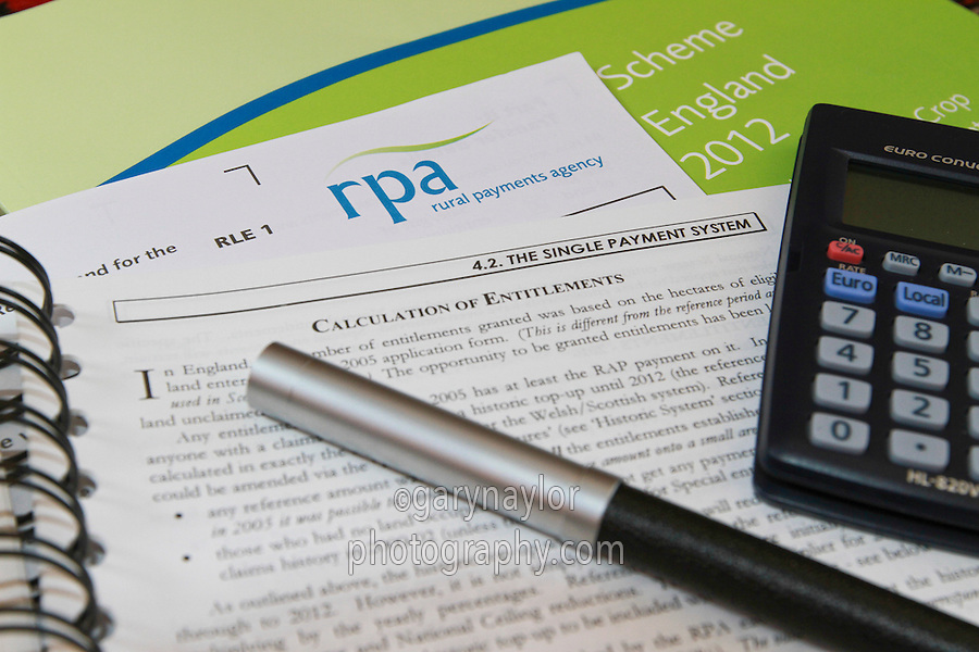 RPA RLE 1 form with guide notes surrounding