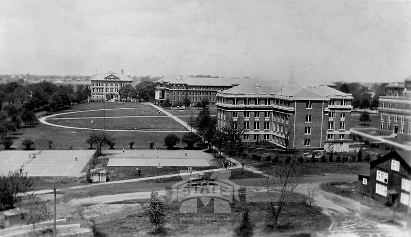 Drill Field in 1930s <br /> (&copy; Mississippi State University)