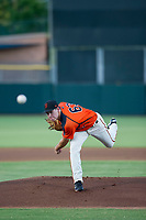AZL Giants starting pitcher Seth Corry (63) follows through on his delivery against the AZL Reds on August 12, 2017 at Scottsdale Stadium in Scottsdale, Arizona. AZL Giants defeated the AZL Reds 1-0. (Zachary Lucy/Four Seam Images)